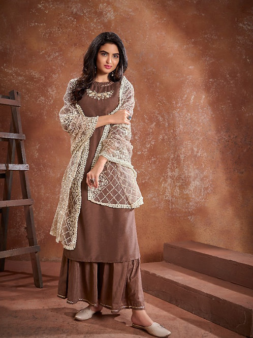 Beautiful Ethnic Suit with Heavy Embroidery work