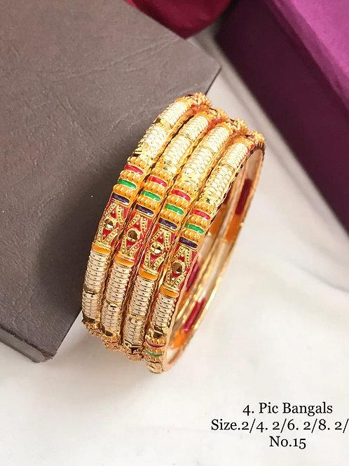 Beautiful Bengal Meena work 4pc Set Dno019