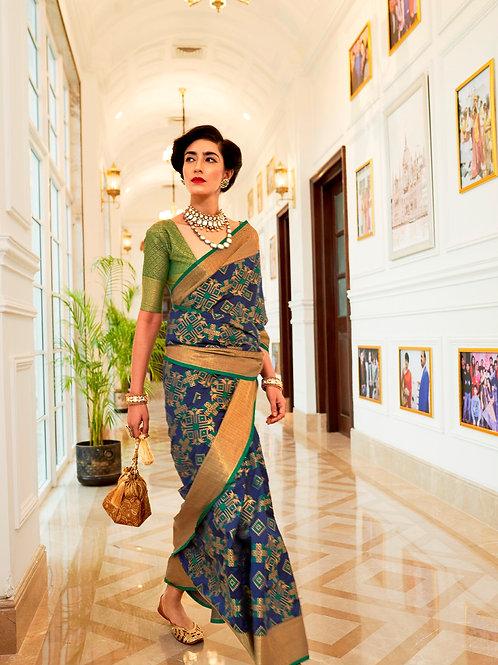 Kimisha Excellency Royal Purple Banarasi Silk Saree