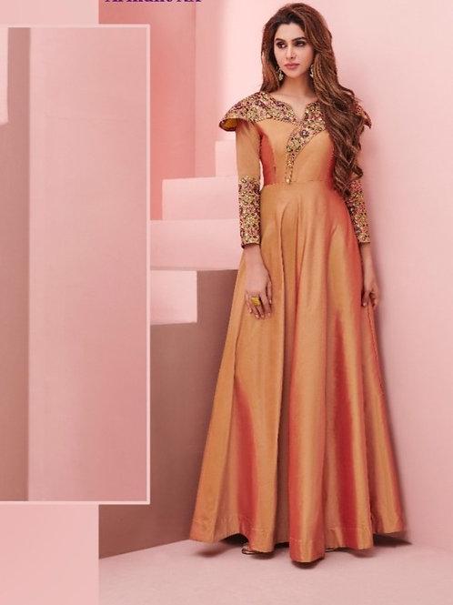 Floret Collection Soft Silk Kurti Marvella Orange