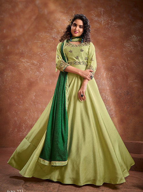 Beautiful Ethnic Gown with Heavy Embroidery work