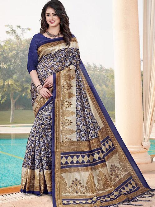 Stardom Mysore Silk Blue Saree v3