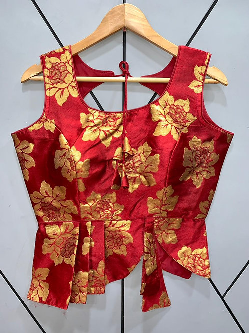 Croptop Style Designer Weaving Blouse 01