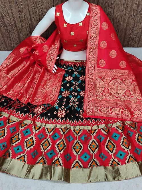 Stunning Banarasi Black Lehenga