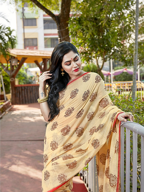 Beautiful Baidge Saree by Kimaya Silk
