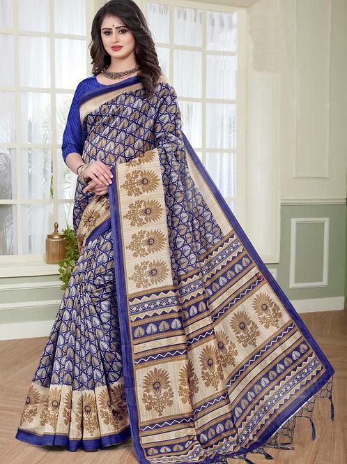 Stardom Mysore Silk Blue Saree v2