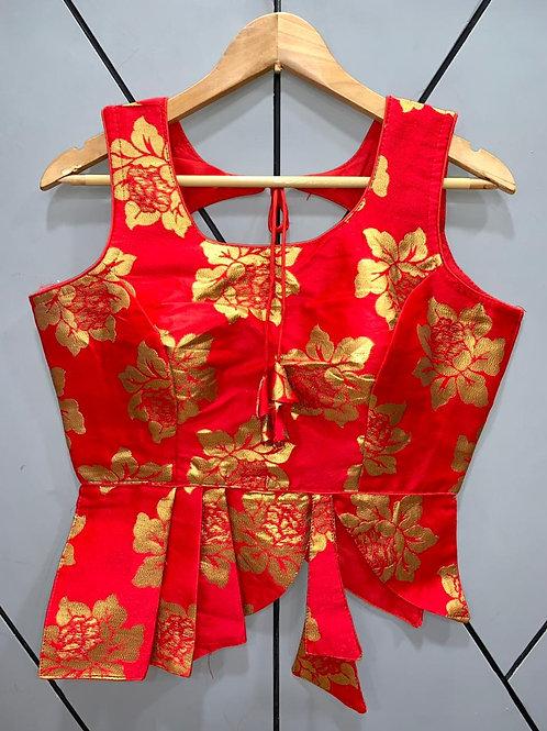 Croptop Style Designer Weaving Blouse 03
