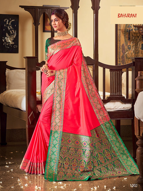Rangoli Soft Silk Bahurani Collection - Beauty Pink Saree
