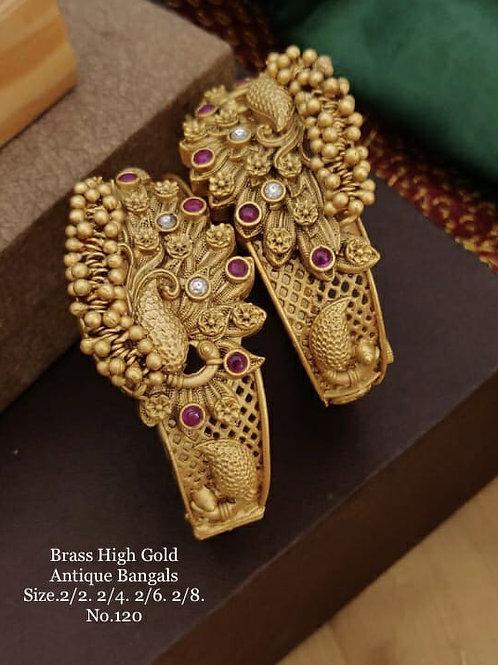 Brass High Gold Matt Polish Bangle Dno120