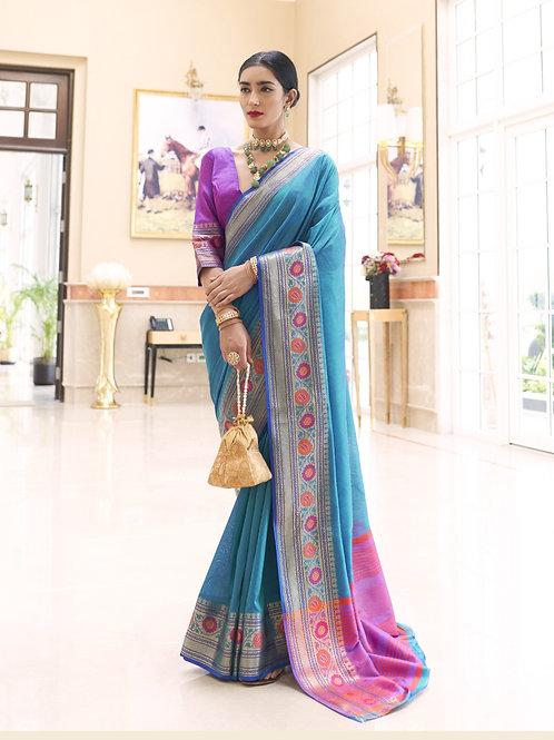 The Style - Kundan Handloom Weaving Silk