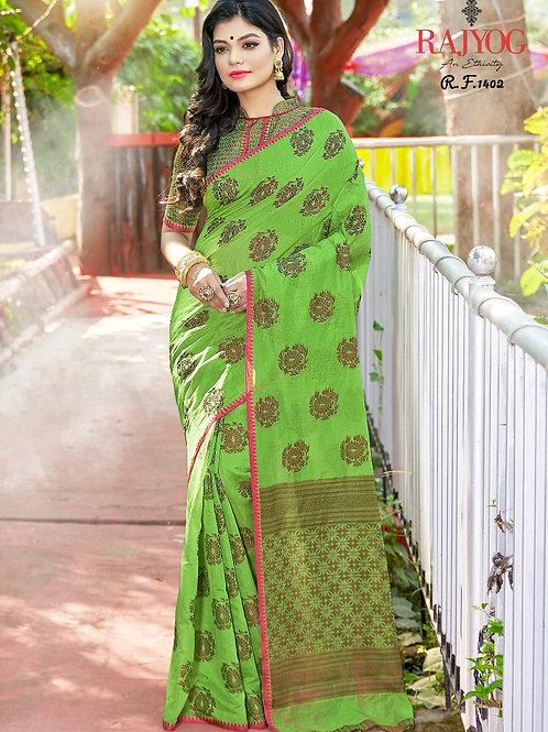 Beautiful Light Green Saree by Kimaya SilK