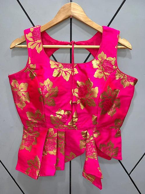 Croptop Style Designer Weaving Blouse 04