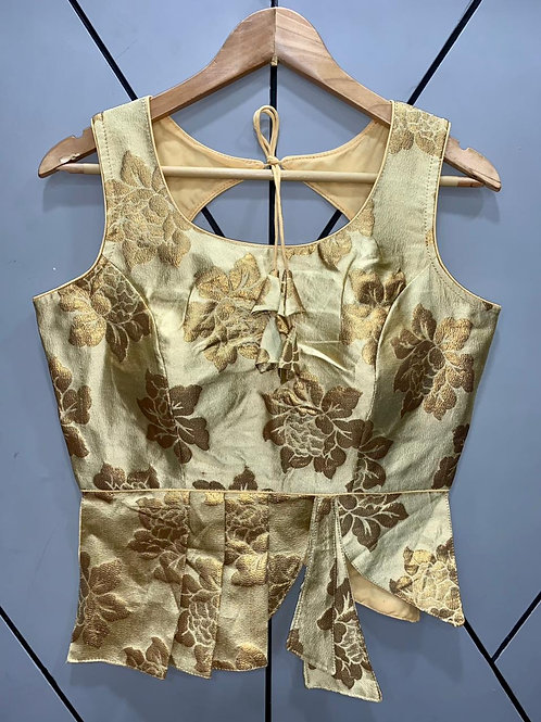 Croptop Style Designer Weaving Blouse 09