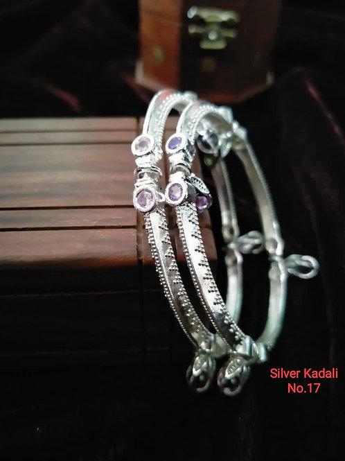 Silver Plated Beautiful Bangel Oxidized Dn04