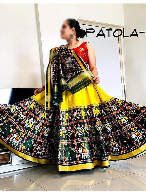 Patola Designer Yellow Lehenga