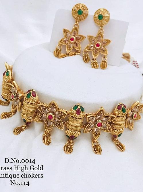 1 Gram Beautiful Choker Necklace Set Dno14