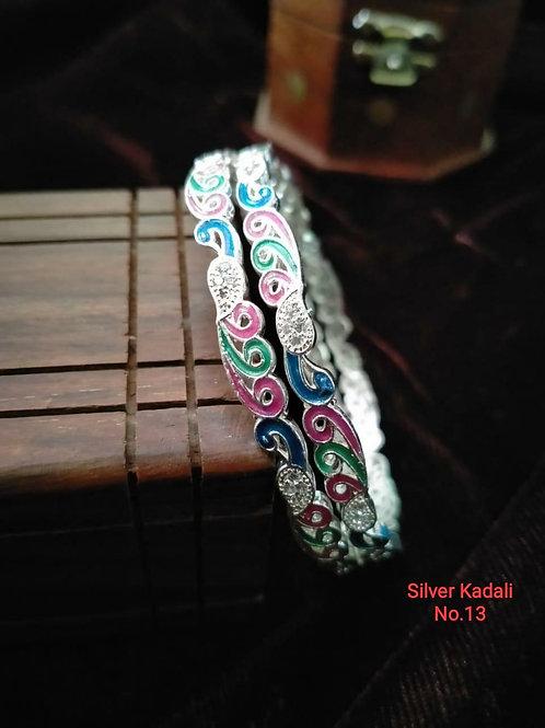 Silver Plated Beautiful Bangel Oxidized Dn09