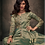 Thumbnail: Exora Hue Green Partywear Vtriva Satin Gown With Embroidery Work - D.No 1204