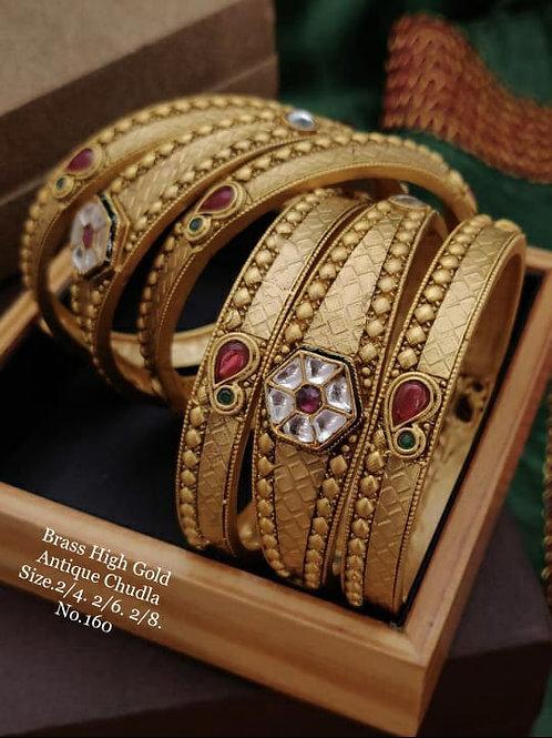 Brass High Gold Matt Polish Bangle Dno160