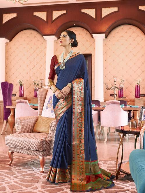 Identity - Kundan Handloom Weaving Silk Saree