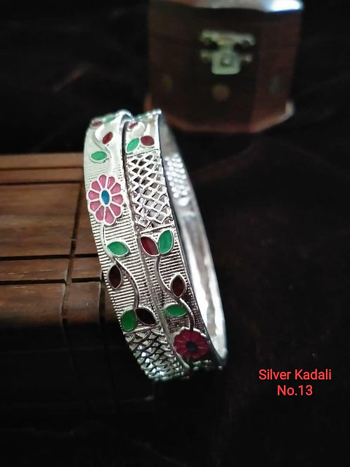 Silver Plated Beautiful Bangel Oxidized Dn06