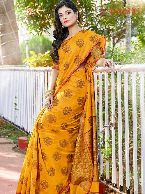 Beautiful Yellow Saree by Kimaya Silk