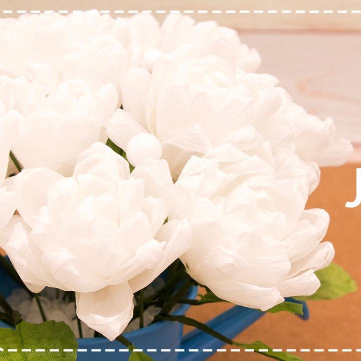 DIY กระถางดอกมะลิจากกระดาษย่น