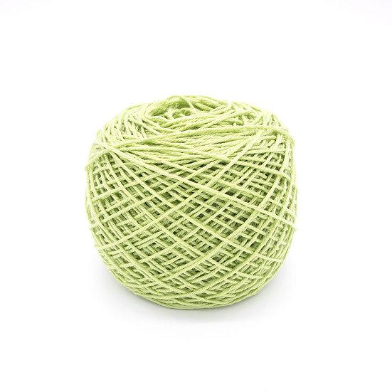 ไหมพรมอินโดซิลค์ No.14 สีเขียวมะนาว