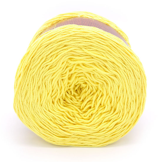 เชือกถัก TM ดอกฝ้าย No.124 สีเหลืองอ่อน