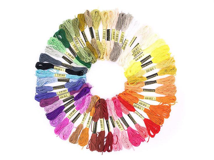 ชุดไหมปักครอสติช คละสี 50 สี