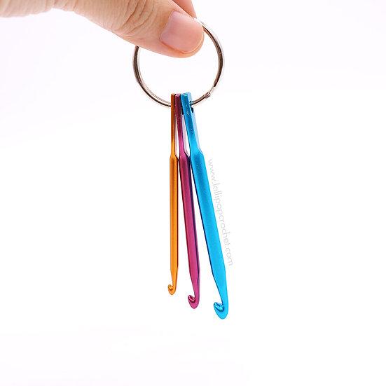 พวงกุญแจเข็มโครเชต์อลูมิเนียม 3 ขนาด