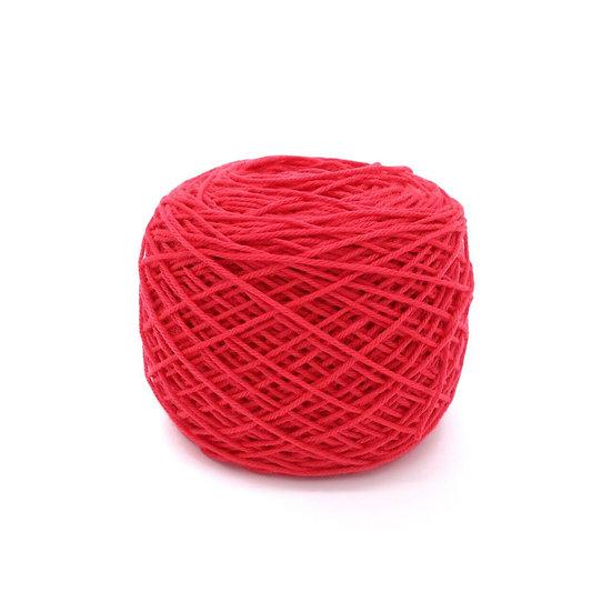 ไหมพรมอินโดซิลค์ No.02 สีแดงสด