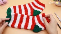 โครเชต์ถุงเท้าอุ่น ๆ ถักเองได้ ไม่ยาก!