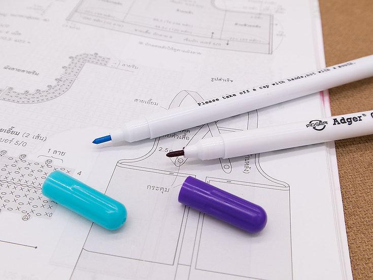 ปากกาเขียนผ้า แบบลบได้ด้วยน้ำ