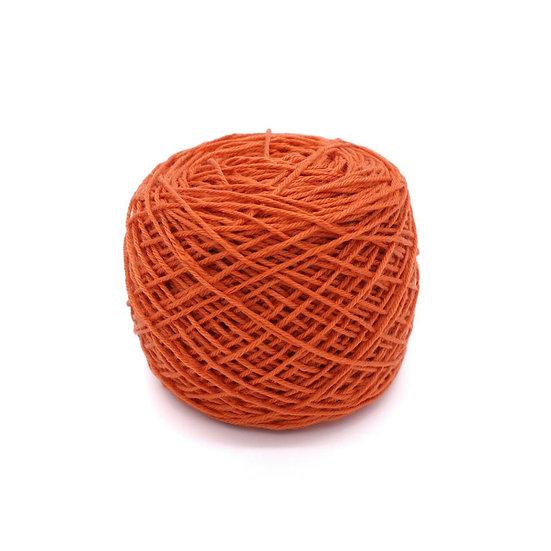 ไหมพรมอินโดซิลค์ No.03 สีส้มแดง