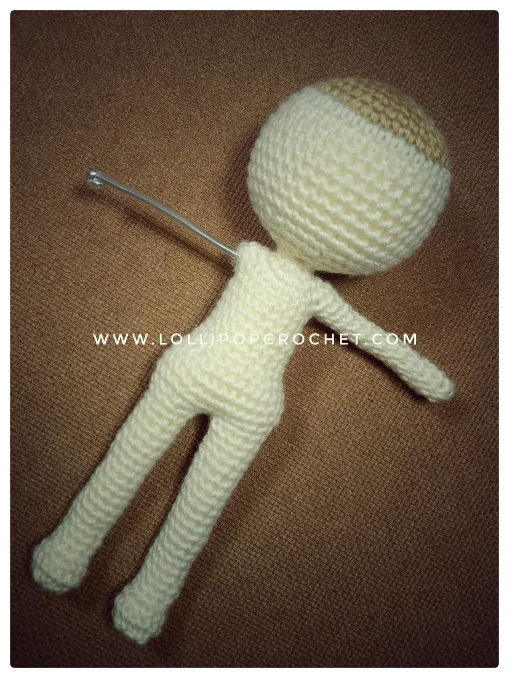 แพทเทิร์นแขนตุ๊กตาโครเชต์เด็กผู้หญิง