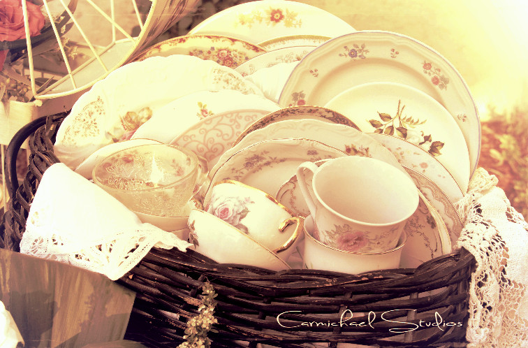 charming mix of vintage china