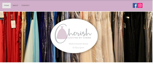 Cherish Gowns Website