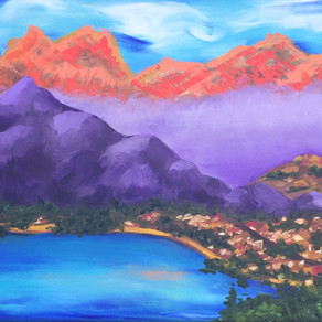 18X24 Contemporary Impressionist Mountains