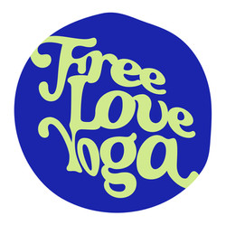 FreeLoveYoga-Logos_Circle - lime on blue