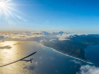 Eerste transatlantische vlucht van vliegtuig op zonne-energie