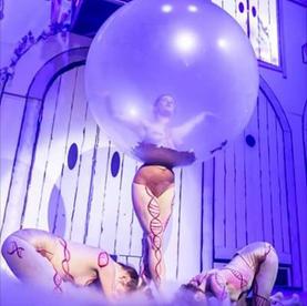 Latex kostuum voor Balonnenfeest