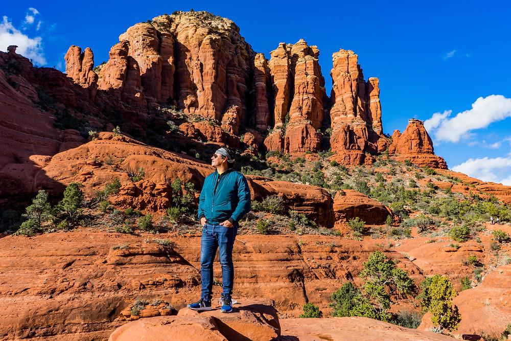 aprende fotografia, tips de viaje, selfie, nomada digital, sedona, arizona