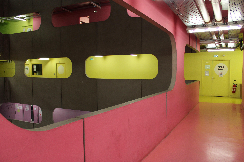 Pink & Yellow Corridor