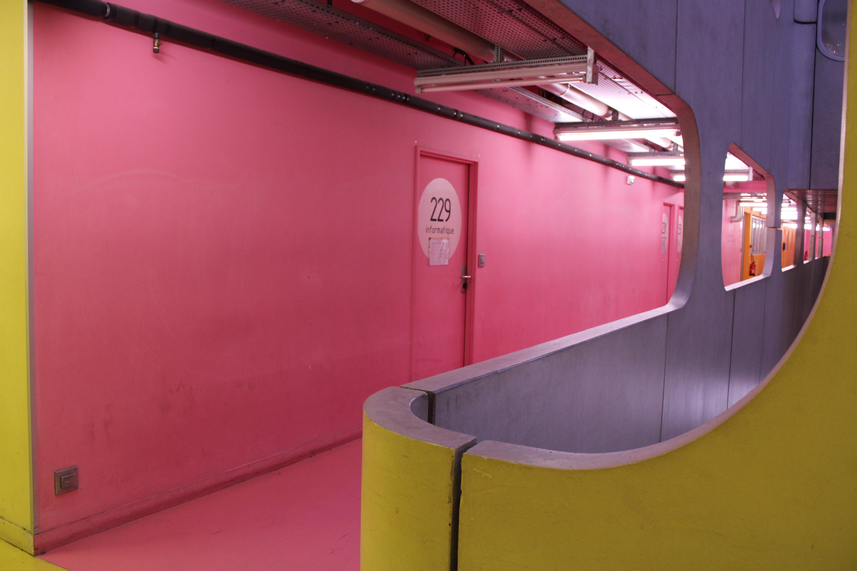 Yellow & Pink Corridor