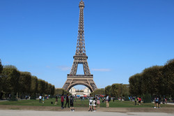 Frontal View of the Eiffel Tower