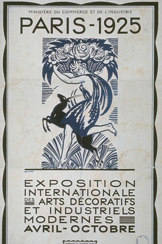 Poster from 1925 International Art Deco Fair in Paris