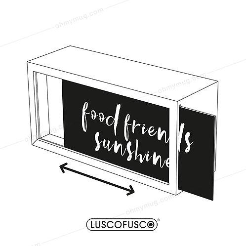 LIGHTBOX LUSCOFUSCO PANTALLA FOOD FRIENDS SUNSHINE