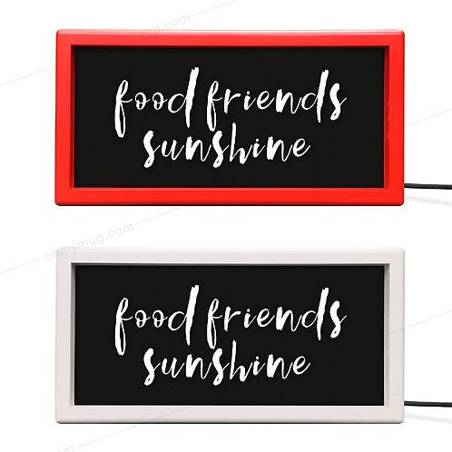 CAJA DE LUZ COLOR FOOD FRIENDS SUNSHINE