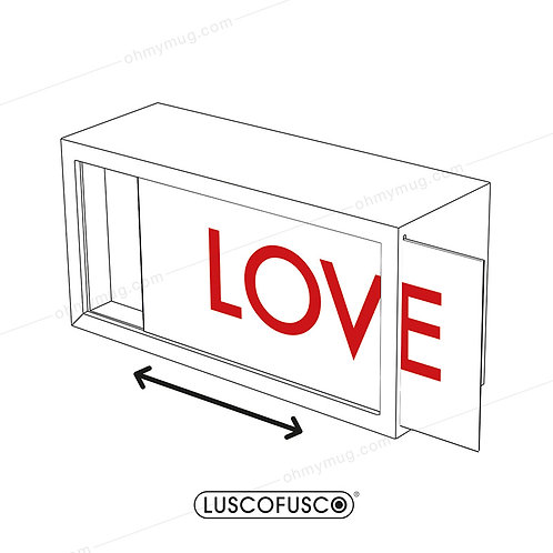 LIGHTBOX LUSCOFUSCO PANTALLA LOVE BLANCO